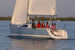 Catalina 275 Sport sailing in St. Pete, FL.