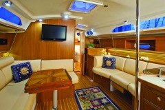 Interiors onboard Catalina 385 in Miami, FL.
