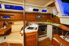 Interiors onboard Catalina 385 in Florida.