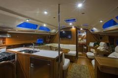 Interiors onboard Catalina 345 in Annapolis, MD.