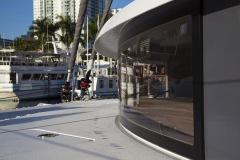 Details onboard Neel 45 in Miami, FL.